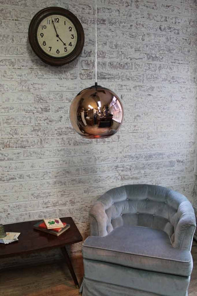 Copper pendant light in home decor