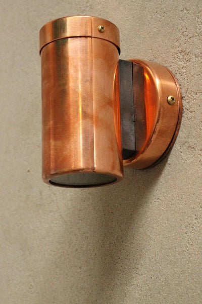 Copper outdoor lighting. spotlights for indoor and outdoor use. ip rated lighting
