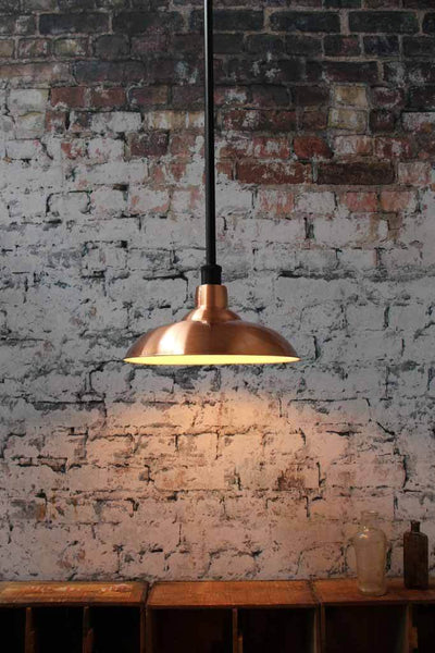 Copper rod pendant light