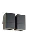 Cube outdoor wall light black