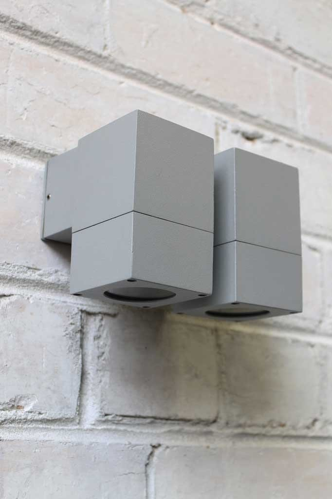 Cube outdoor wall lights Outdoor wall lights can be used in a number of different home exteriors