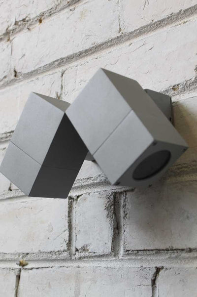 Twin Cube Outdoor Wall Light
