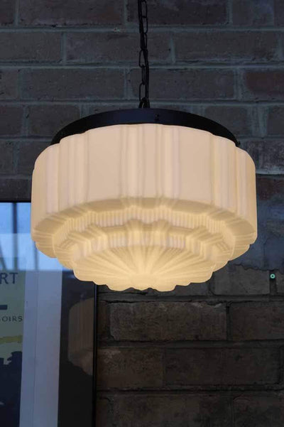 Deco glass ceiling pendant ideal hanging light for hallways or bedrooms