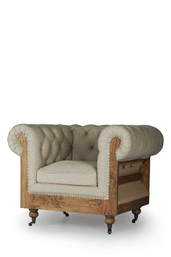 Picture of: Hemingway Deconstructed Fabric Armchair Designer Armchairs Fat Shack Vintage