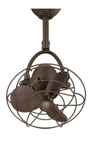 Diane Ceiling Fan - textured bronze with metal blades 478c2904-8da6-4f73-9e05-f67d668ee798