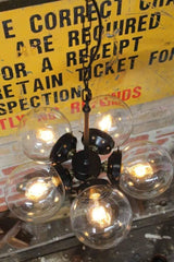 Diner Glass Ball Pendant with clear glass ball shades on metal galleries cb44f6f3-965c-4f62-9086-6061313bb6cb