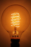 Edison light bulb round spiral filament 25w