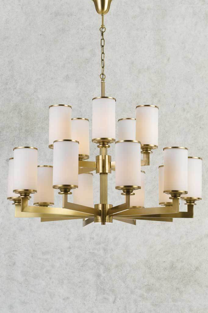Elegant statement large abercrombie chandelier in 15 light configuration