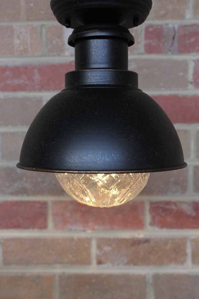 Expressway outdoor ceiling light. under eave light. urban rustic light style with crystal light bulb
