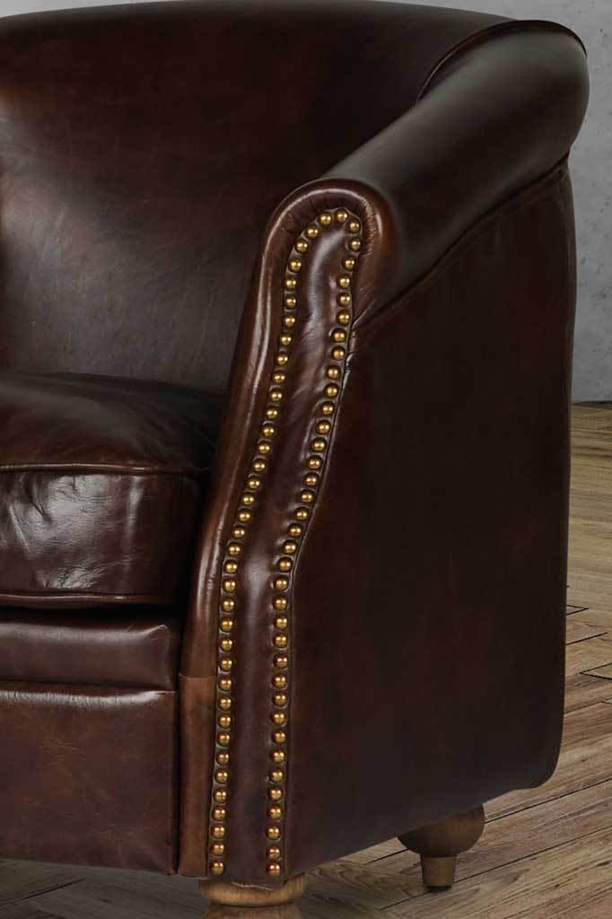 F arm007 x100 main image vintage leather armchair club chair small online furniture stores Australia