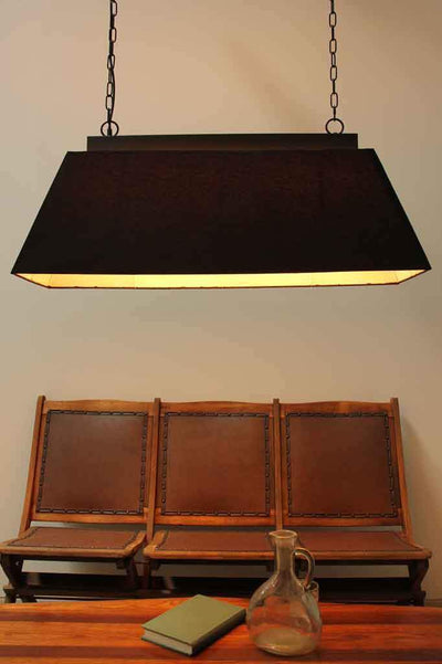 Fabric rectangular pendant light. chain pendant lighting. buy lights online Australia