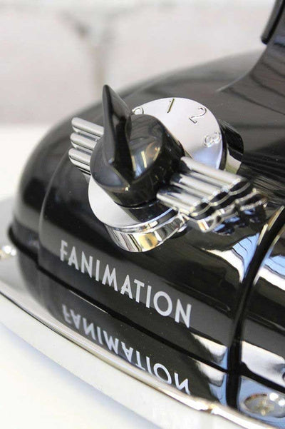 Fanimation retro desk fan has 3 speed dial