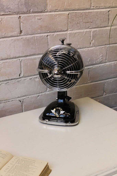 Fanimation retro desk fan in black