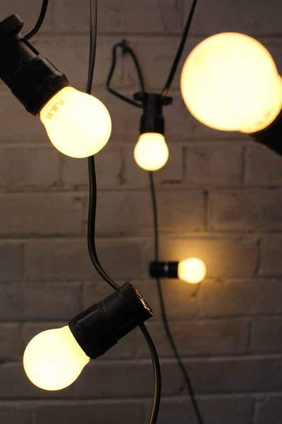 Festoon lighting outdoor string lights with small round led bulbs