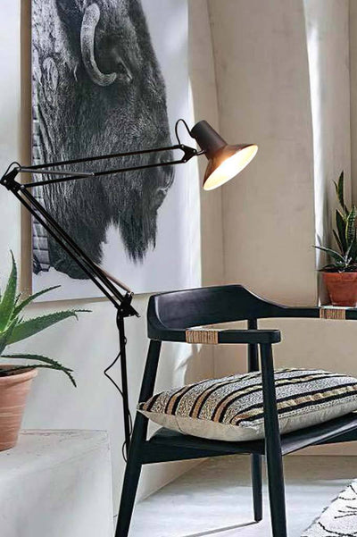 Floor lamp in office room