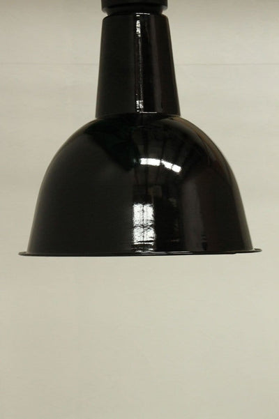 Flush mount lights for residential and commercial use. black porcelain enamel lighting.  .