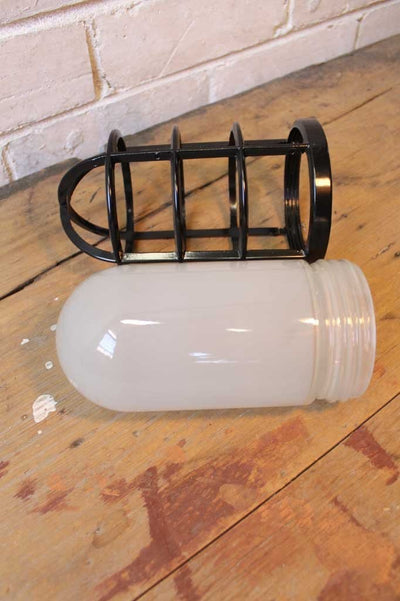 Frosted glass shade used in pendant light or wall light