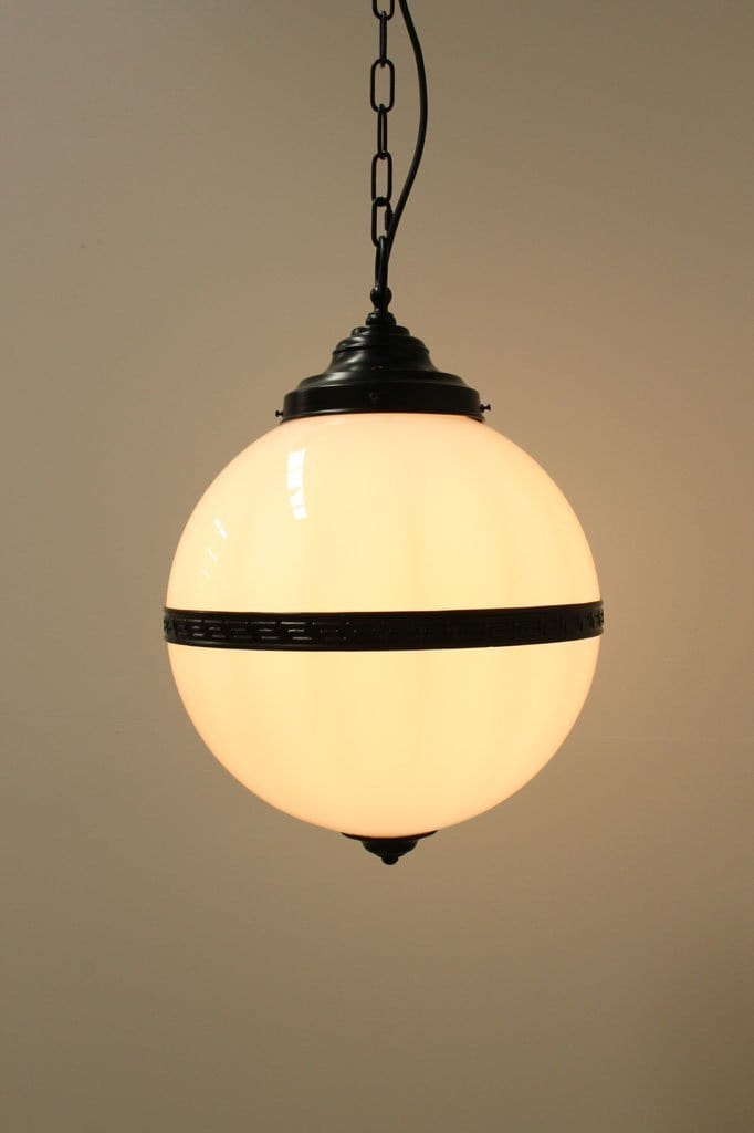 Glass ball vintage and industrial lighting. vintage pendant lights.