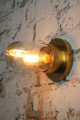 Gold industrial style wall lights