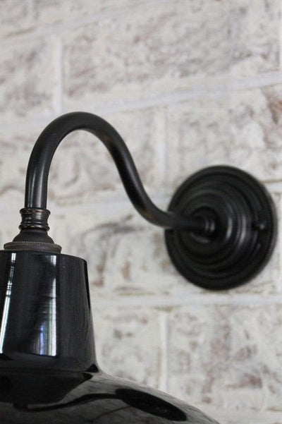Gooseneck wall light in black