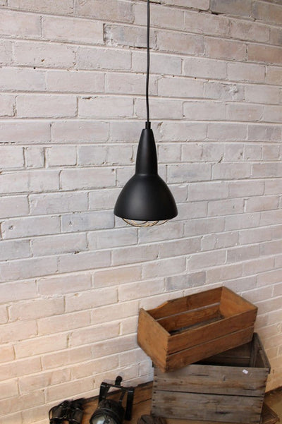 Grid pendant in industrial setting