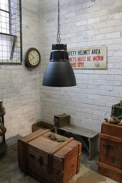 Hangar pendant light vintage high bay style old factory lighting