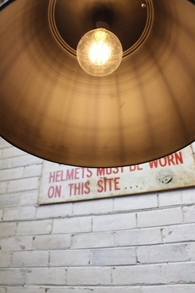 Hangar pendant light vintage high bay style with large led filament bulb