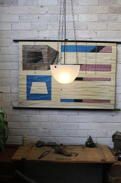 Vintage Hanging Bowl Light