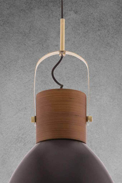 Helsinki pendant lamp in black with matching black fabric cord
