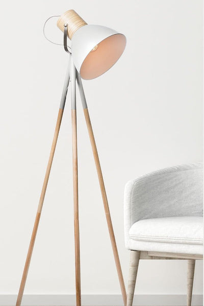 Helsinki floor lamp in matt stone grey ideal for home lighting
