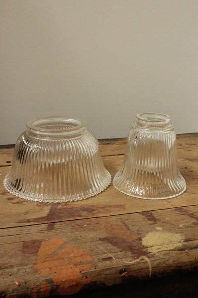 Holophane style glass lighting wall lights for vintage commercial or residential lighting