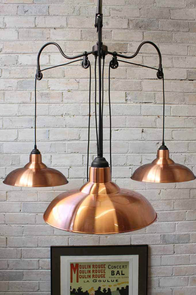 Bullpit Industrial Chandelier Pulley Light