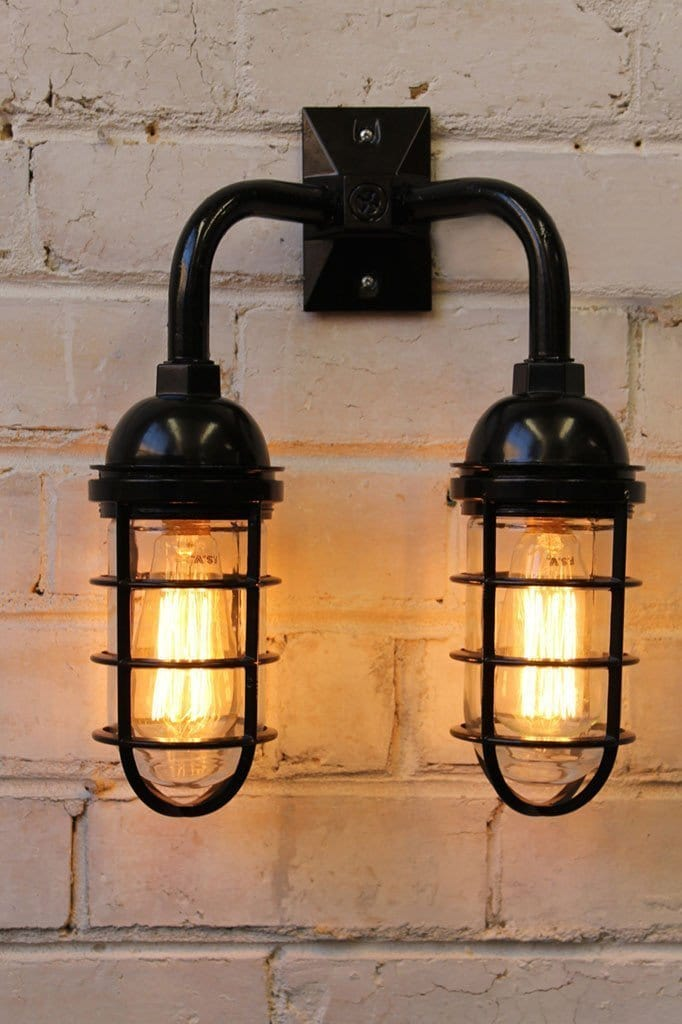 Industrial Double Bunker Wall Lamp