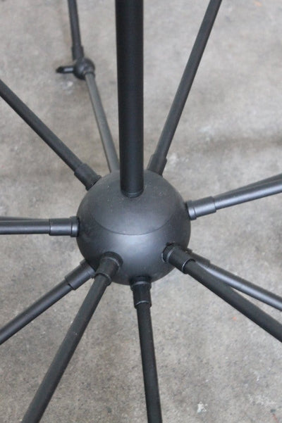 Industrial spider chandelier vertical ceiling pole mount and central ball housing