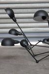 Industrial spider chandelier multi directional arms and shades