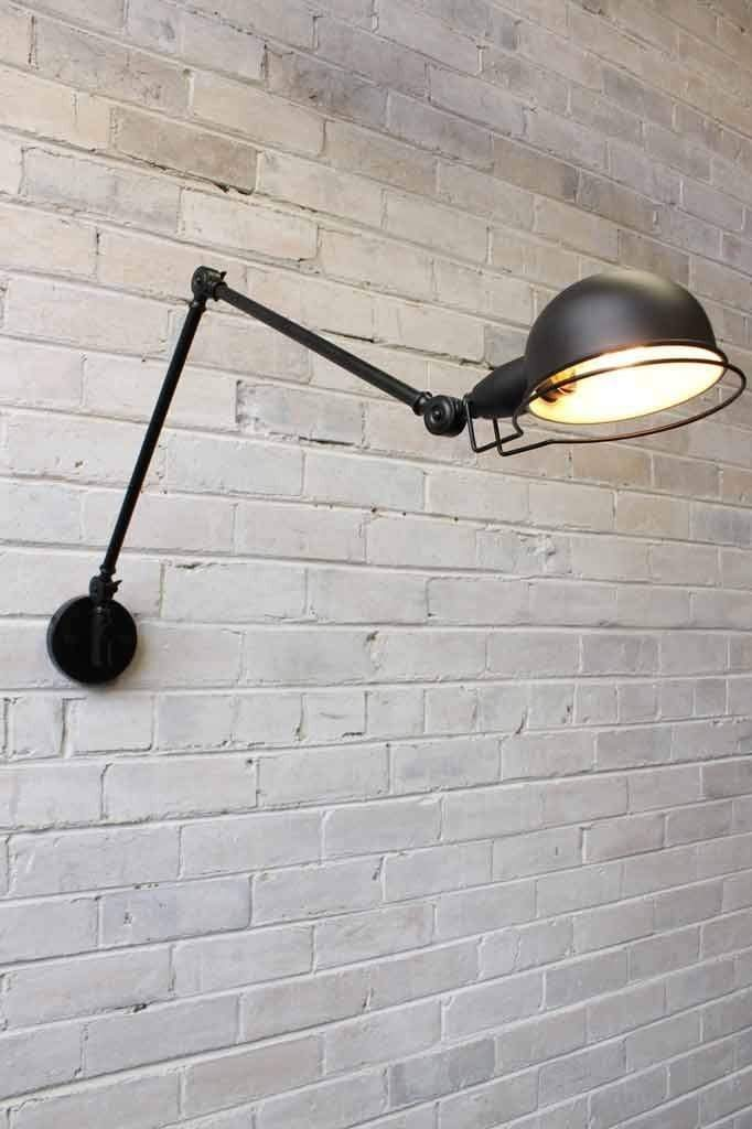 Industrial two arm light styled on the signal wall lamp by jielde