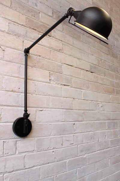Industrial two arm wall light
