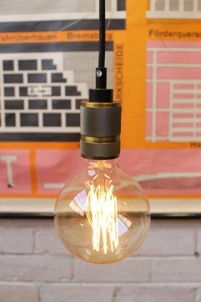 Industrial style metal e27 lamp holder pendants