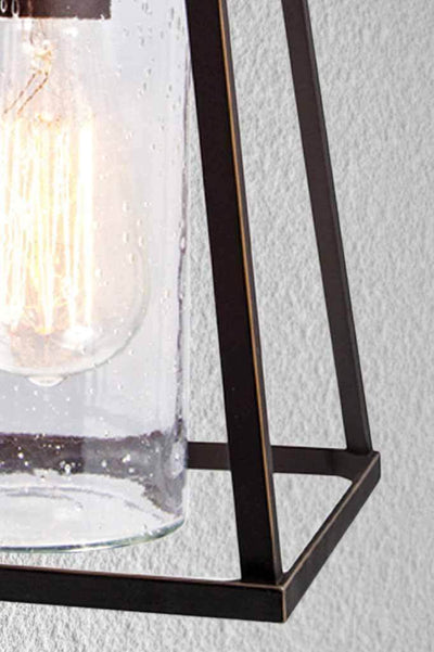 Inlet glass wall light shop front cafe courtyard or home exterior.