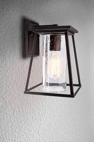 Inlet exterior wall light. outdoor lighting. clear glass. online Melbourne Sydney