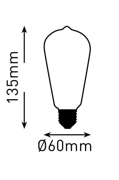 LED Bulb - Teardrop Cross Loop LED Filament 4W 2200K