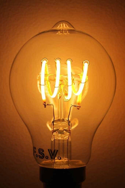 LED Globe - Quad Loop Round LED Filament Bulb 4W 2200K