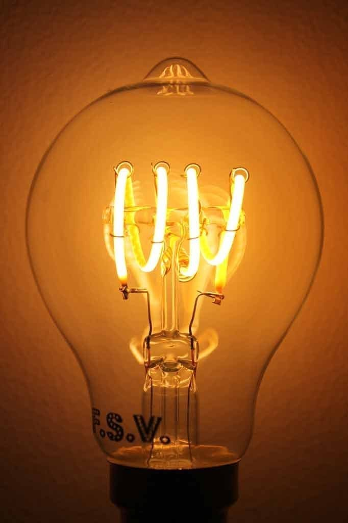Led bulb quad loop round led filament bulb 4w 2200k