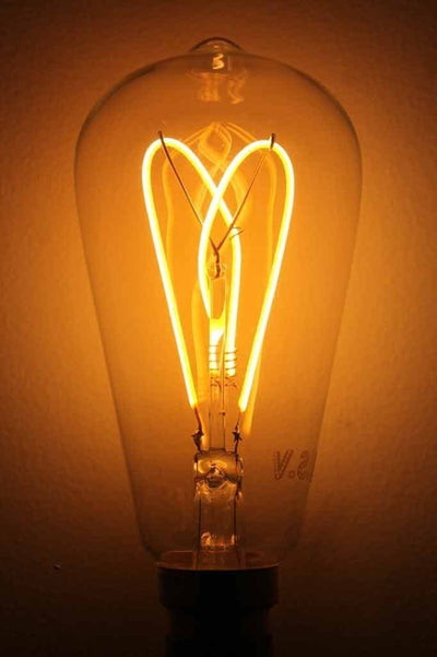Led bulb teardrop cross loop led filament bulb. led online.