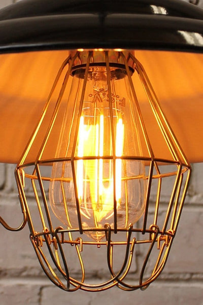 Led bulb dimmable edison teardrop clear in cage