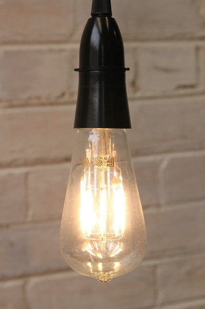 Led bulbs edison teardrop 8w 2600k hanging from pendant cord