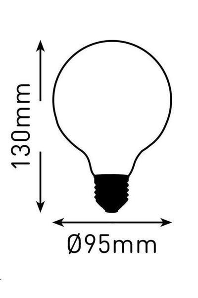 Led dimmable bulb 95mm round