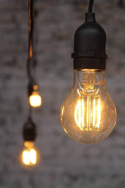 Led filament bulb a60 2w 2200k online leds Australia for festoon lighting table lamps floor lamps or pendant lights. not dimmable.
