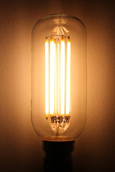 Led filament bulb tubular 6w 2100k long filament tubular led bulb