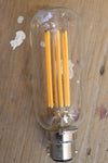 Led filament bulb tubular 6w 2100k has 6 long filaments